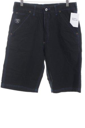 Schott NYC Shorts schwarz-neonblau sportlicher Stil