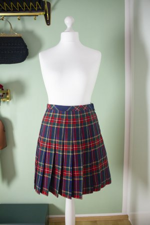 Pleated Skirt multicolored wool