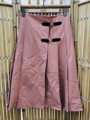 Zara Jupe à plis or rose