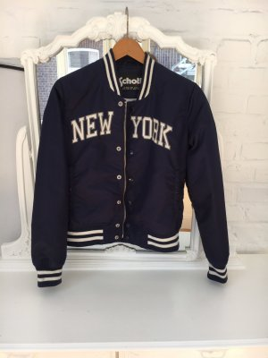 Schott NYC College Jacket blue-white