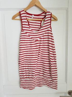 Vero Moda Top long rouge-blanc