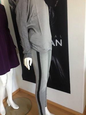 Schrautt La Shirt grau Seide Jeans benetton gr 30 streifen benetton 38