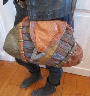 Schrille True Vintage Tasche Echtes Leder von Samir Handtasche Eyecatcher RAR