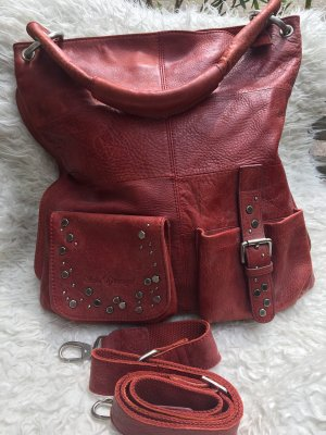 Schu(h)tzengel Pouch Bag dark red