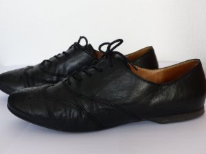 Schürschuhe aus Leder Gabor Gr. 39, schwarz