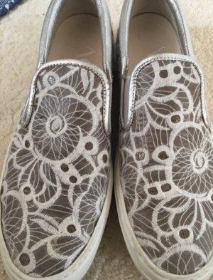 AGL Zapatos blanco-color plata