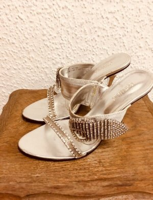 Sandalias con tacón color plata