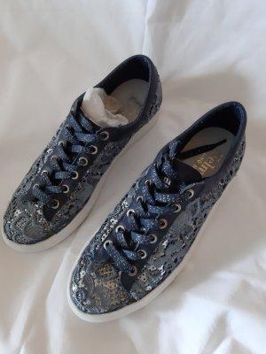 Felmini Zapatos brogue color plata-azul celeste