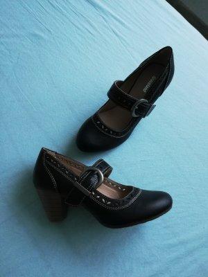 Graceland Escarpins Mary Jane noir tissu mixte