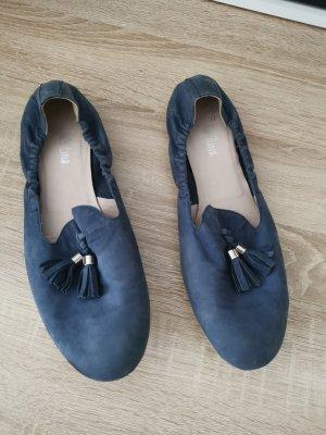 Zapatos formales sin cordones azul oscuro