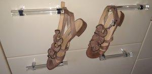 Paul Green Sandalias de tacón de tiras nude
