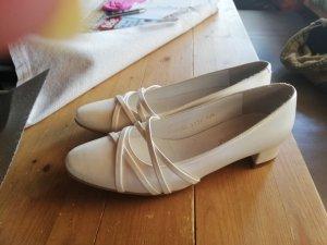 Zapatos Informales crema Cuero