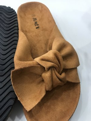 Jumex Sandalo comodo arancione scuro Finta pelle