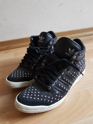 Adidas Lace Shoes black-silver-colored