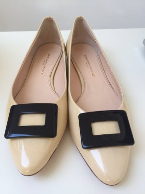 Konstantin Starke Patent Leather Ballerinas black-cream