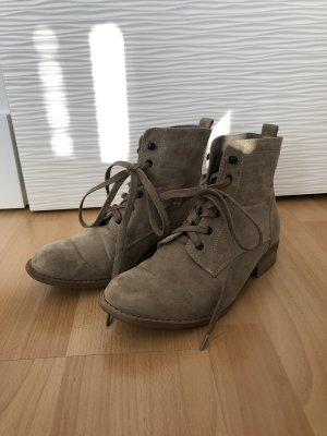 Graceland Lace-up Booties beige