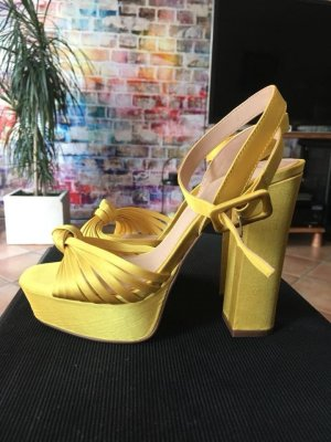 H&M Platform High-Heeled Sandal yellow