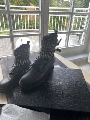 Philipp Plein Ankle Boots black leather