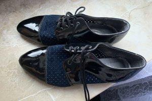 Budapest schoenen zwart-donkerblauw