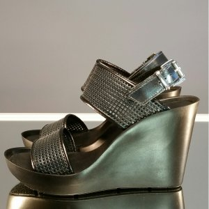 Bronx Comfort Sandals black-silver-colored