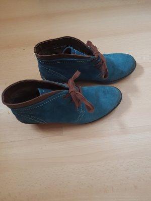 Marco Tozzi Bottine à talon compensé bleuet