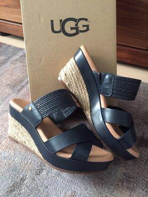 UGG Heel Pantolettes dark blue