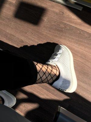 Sneaker con strappi bianco