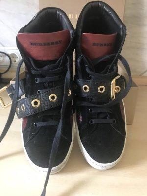 Burberry High Top Sneaker black-bordeaux