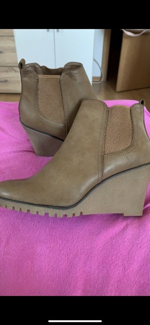 Graceland Chelsea Boots light brown leather