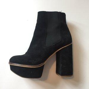 Schuhe 70s Look Plateau Stiefeletten Gr.37