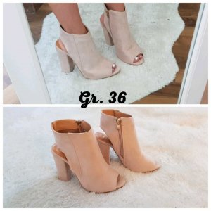 Peep Toe Booties rose-gold-coloured