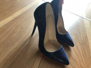 Zapatos Budapest negro-azul oscuro
