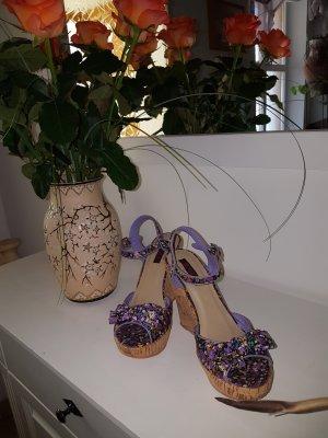 Jumex High Heel Sandal yellow-lilac