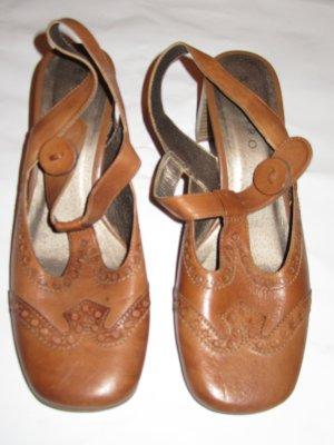 Schuhe Absatz Sandalen Vintage Gr. 38