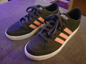 Adidas Lace-Up Sneaker neon orange-dark blue