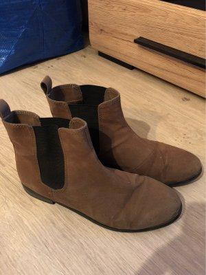 H&M Slip-on Booties black brown
