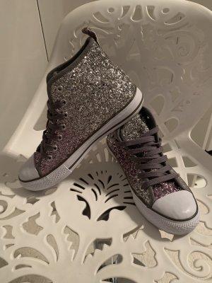 Atmosphere Sneaker stringata argento