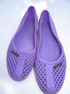 Vintage Ballerine à bride arrière gris violet