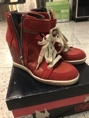Buffalo Short Boots dark red