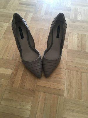 Schuhe beige Zara, 38 wie neu