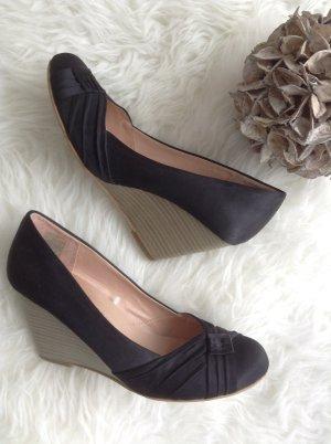 Schuhe / Blockabsatz / schwarz / Gr. 39