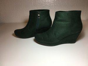 Schuhe, Boots, grün, Tamaris, Größe 38, Keilabsatz