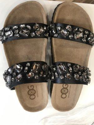 Sandalo outdoor nero-bianco Pelle