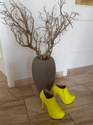 Peep Toe Booties neon yellow