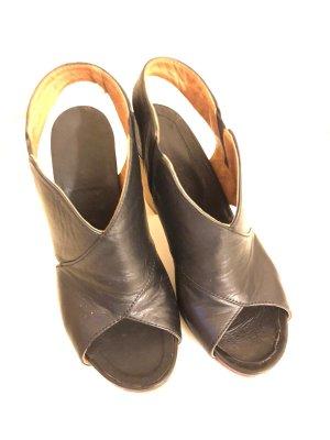 Cinque Sandale d'extérieur noir cuir