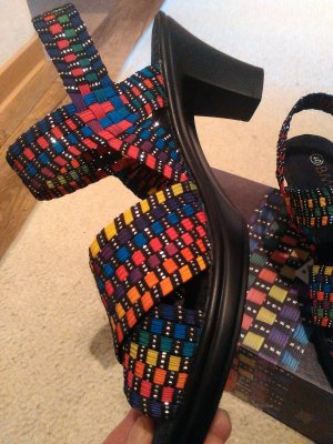 Bernie Mev. Strapped High-Heeled Sandals multicolored