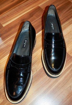 Schuhe Damen Loafer Paul Green 40 schwarz wie neu Lackleder