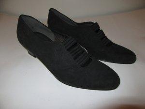 Schuhe Damen Vintage Retro Gr. 8 (Gr.41) schwarz