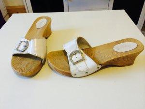 Schuhe Damen weiß mit Strasssteinen