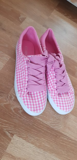 Esprit Lace-Up Sneaker white-pink